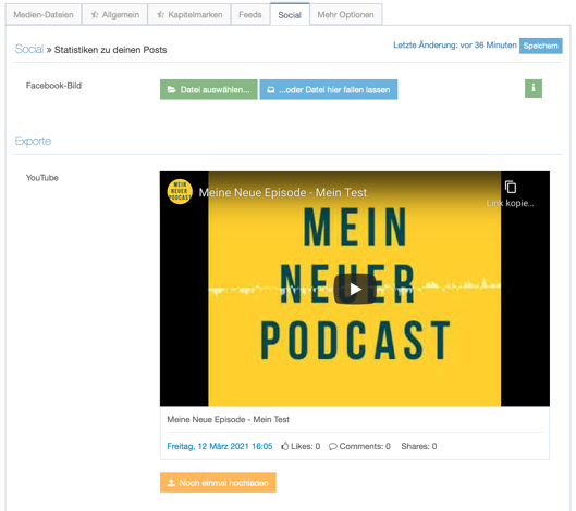 YouTube mein Podcast im Social Reiter