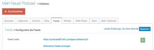 Podcast Feed für Apple finden