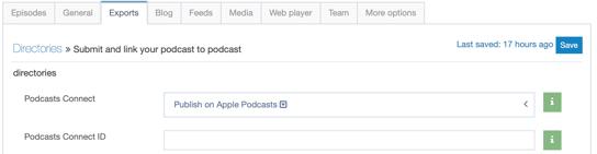 screenshot apple exports tab