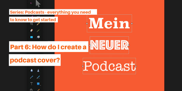 How do I create a podcast cover?