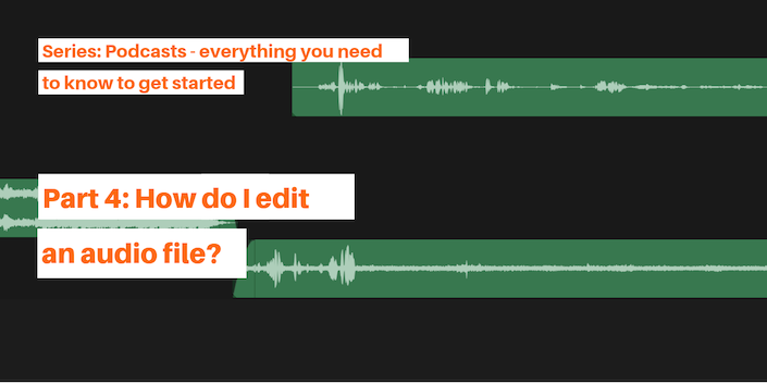How do I edit an audio file?