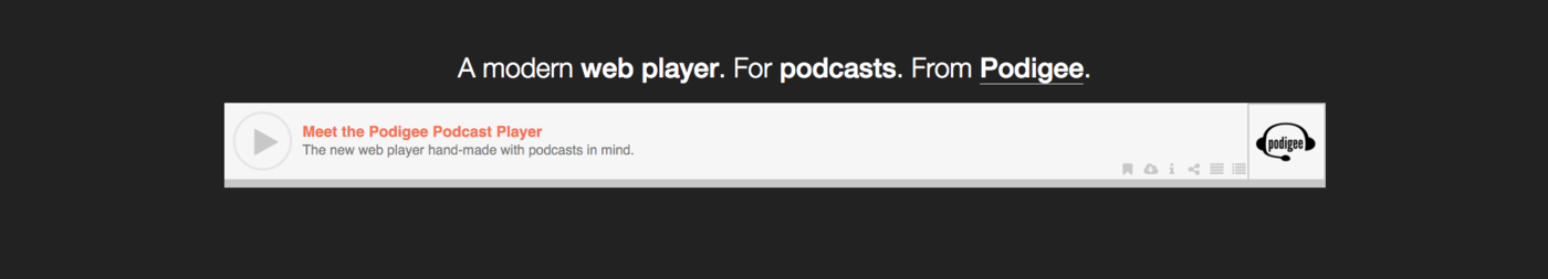 Podigee Podcast Player now available for testing