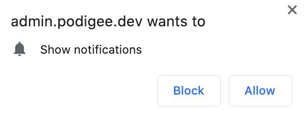 allow desktop notifications in your browser