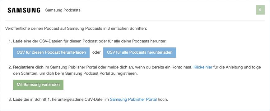 Samsung Podcasts – Mehr Reichweite ohne Aufwand